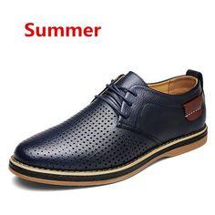Men's Black Faux Leather Formal Shoe Summer