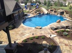 Pool Designs With Rock Slides exact pool design with hot tub slidegratto waterfalls exc Diving Pool Ideas Pool Ultimate Back Yard Pool With Waterfall Slide Highdive Rock Diving