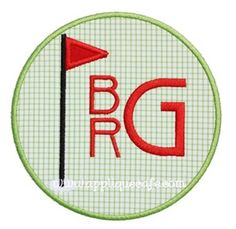 Golf Patch Applique Design