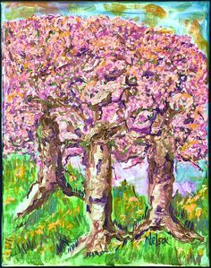 Pink Trees in The Springtime! We can use color.