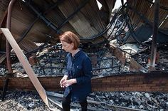 WHERE'S TONY? Here's a picture of then Prime Minister Julia Gillard, inspecting the ruins of Dunalley Primary School in Tasmania last January, where bushfires destroyed about 100 buildings. Meanwhile, Prime Minister Tony Abbott, who is presently on his second holiday, is nowhere to be seen during the devastating bushfire conflagration, threatening huge swathes of south-eastern Australia. What a difference in leadership style. #auspol #australia #tonyabbott #juliagillard