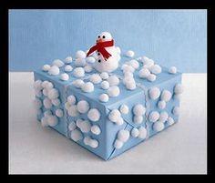 Snowman Present Decoration