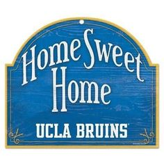 """UCLA BRUINS HOME SWEET HOME ARCHED WOOD SIGN 10""""x11"""" BRAND NEW WINCRAFT"""