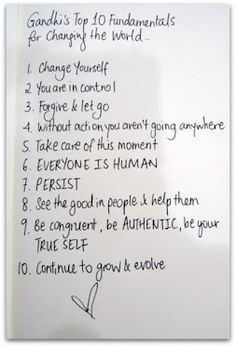 Changing the World - Gandhi's Top 10 Gotta love Gandhi!