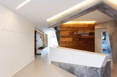 Clinic Design, Gym Design, Reception Counter, Reception Areas, Led Light Design, Lighting Design, Pharmacy Design, Home Office, Canvas Wall Art