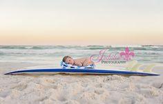 Destin Newborn Photographer, Beach Newborn Photography, baby on surf board Baby Boy Photos, Newborn Pictures, Baby Pictures, Infant Photos, Newborn Pics, Newborn Beach Photography, Newborn Photographer, Destin Florida, Beach Kids