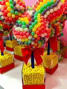 Disney Inspired Mickey Minnie Mouse Clubhouse Gum Drop Centerpiece Candy Topiary, Candy Buffet Decor, Mitzvah, Birthday on Etsy Minnie Mouse Clubhouse, Minnie Y Mickey Mouse, Mickey Party, Disney Mouse, Hollywood Candy, Candy Topiary, Topiary Trees, Candy Land Theme, Candy Centerpieces