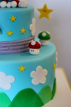 Mason's Super Mario Groom's Cake by The Couture Cakery, via Flickr