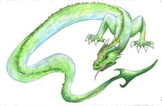 Lindworm (Illustration) Wallpaper from Mythical Creatures. An illustration of a lindworm. A lindworm is a a wingless bipedal dragon often with a venomous bite. It is known from Scandinavian and British folklore, myths, and legends. Ice Dragon, Water Dragon, Here Be Dragons, Cute Dragons, Mythological Creatures, Mythical Creatures, Avatar World, Dreams And Nightmares, Legendary Creature