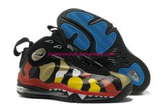 Colorful Nike Total Air Foamposite Max Yellow and Black 472498 071