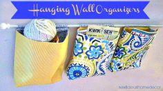 hanging wall organizers sewing tutorial