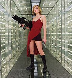 Buy Milla Jovovich`s Red Dress from Resident Evil: Extinction for your Valentine? Sounds like a win to me. Resident Evil Cosplay, Resident Evil Game, Milla Jovovich, Constantin Film, Lgbt, Alice Costume, Rabbit Costume, Film Serie, Cosplay Costumes