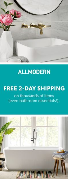 Bathroom - Free Shipping on Orders over $49 when you sign up on allmodern.com!