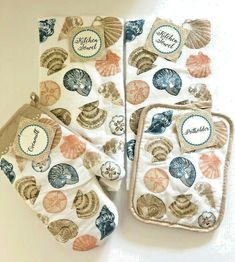Towel,Oven Mitt /& Pot Holder Set  CINNAMON 100/% Cotton
