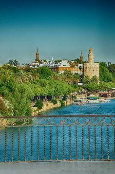 Desde el puente de Triana,  Sevilla  Spain by -Kaesar
