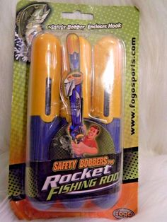 Safety Bobbers Toy Rocket Fishing Rod w/ 3 Replacement Bobbers Spin Master Fogo #SpinMaster