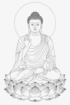 Shakya muni painted portrait sitting buddha drawing PNG and Clipart Buddha Tattoo Design, Buddha Tattoos, Buddha Kunst, Buddha Art, Buddha Lotus, Budha Painting, Mural Painting, Paintings, Buddha Drawing