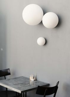Simple, gorgeous wall lights at Hammer & Tong 412, Melbourne, Australia