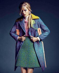 """Cocktails Blow-Up"" Frida Aasen for Marie Claire France September 2015"