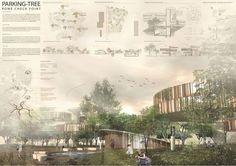 School of Architecture Design - portfolio Famous Architecture, Architecture Graphics, Architecture Board, Architecture Drawings, Architecture Portfolio, Architecture Details, Rendering Architecture, Architecture Diagrams, Presentation Board Design