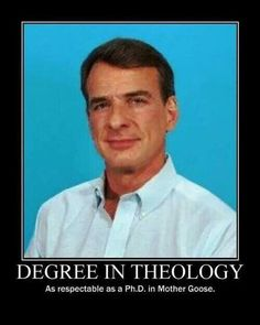Theology: The one discipline who's subject matter doesn't exist!