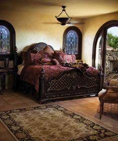 Tuscan decor – Mediterranean Home Decor Dream Bedroom, Home Bedroom, Master Bedroom, Bedroom Decor, Master Suite, Bedroom Furniture, Coastal Bedrooms, Luxurious Bedrooms, Tuscan Bedroom