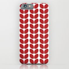 leaves - red iPhone & iPod Case