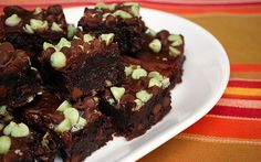 Triple Chocolate & Mint Brownies