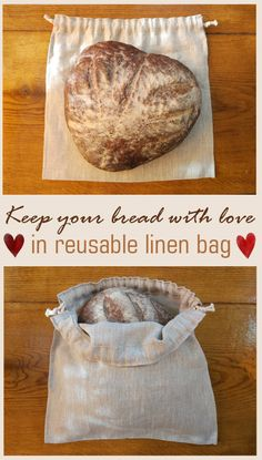 Zero waste -keep bread fresh in linen if you can afford it, or a teatowel or pillowcase if you can't