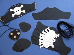 Pirate Crafts - these are very cute. but should be altered to achieve outcomes