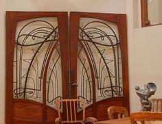 Art Nouveau doors, Musee d'Orsay, Paris.