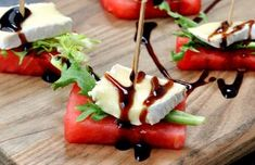 Watermelon recipes are perfect for the summertime with its refreshing taste! Even though my family loves watermelon, we always seem to end u. Appetizer Recipes, Appetizers, Brie Appetizer, Brie Bites, Camping Breakfast, Camping Coffee, Watermelon Recipes, Watermelon Appetizer, Bruschetta