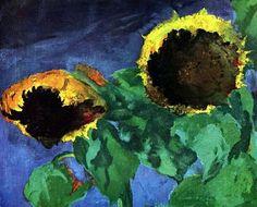 Emil Nolde「Mature sunflowers」(1932)