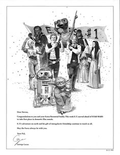 STAR WARS Congratulating E.T. in 30 Year Old Variety Ad