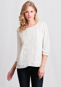 Favorite new arrival! Lisle Lace Embroidered Blouse