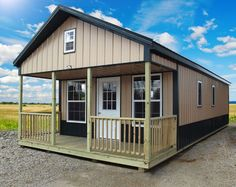 Welcome to our Deluxe Cabins photo gallery! Each building is quality built with 40 year warranty on steel materials and 50 year guarantee on the subfloor. If you don't see exactly what you're looking for, we can custom build any design to meet your needs in a wide variety of colors. Learn MoreRequest QuoteFind Dealer