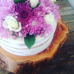 Naked cake on a wooden slab #oldschooltealady