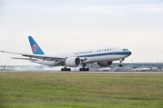 China Southern B777 freighter touches down in Stansted STN