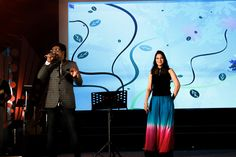 Haricharan & Swetha Mohan performing during the show