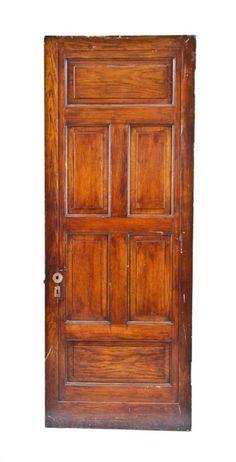Marvelous 1880u0027s American Victorian Era Varnished Oak Wood Interior Residential Six  Panel Door   Architectural Doors   Doors U0026 Hardware   Products