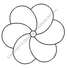"Quilting Stencils > Floral & Leaf Block - Item: 6"" on QuiltingCreations.com"