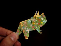 Origami Triceratops: Dinosaur - Tutorial [HD]