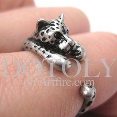 Leopard wrap ring