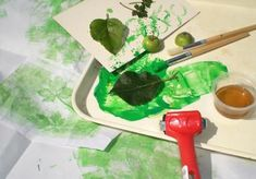 Painting with plants