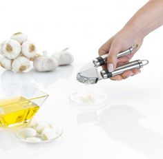 The excellent Brabantia Stainless Steel Garlic Press with no mess. #foodie #buy