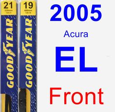 Front Wiper Blade Pack for 2005 Acura EL - Premium