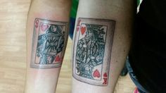 King and Queen tattoos.