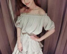 Ladies Small Fragrant Wind Lace Collar Puff Skirt Dress Beige YH15032812http://www.clothing-dropship.com