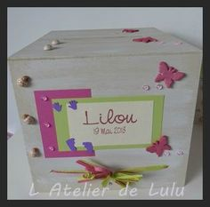 urne de bapteme fait main lilou Toy Chest, Storage Chest, Decorative Boxes, Handmade, Ladybugs, Urn, Envelope, Hands, Bricolage