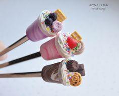 вкусные ложки, полимерная глина, polymer clay, sweet spoon